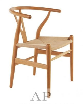 Wegner Chair Natural with Natural Seat