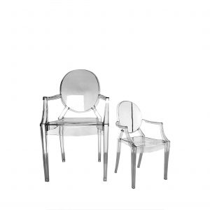 louis ghost arm chairs