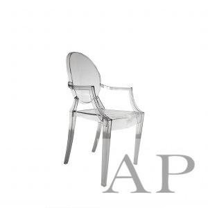louis ghost arm chair clear