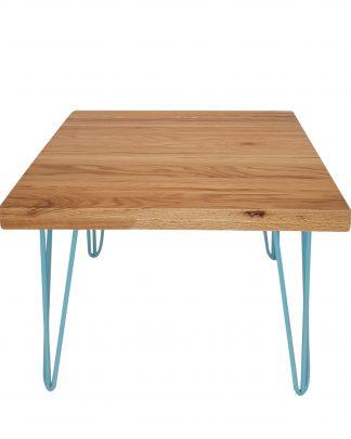 blue hairpin leg coffee table