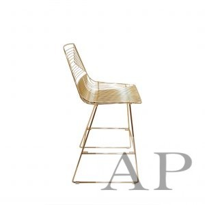 gold wire bar chair