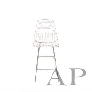 white wire bar chair
