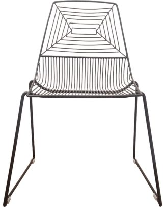 black wire dining chair