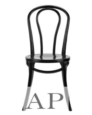 Thonet-Replica-No-18-Bentwood-Dining-Chairs-black-front-view