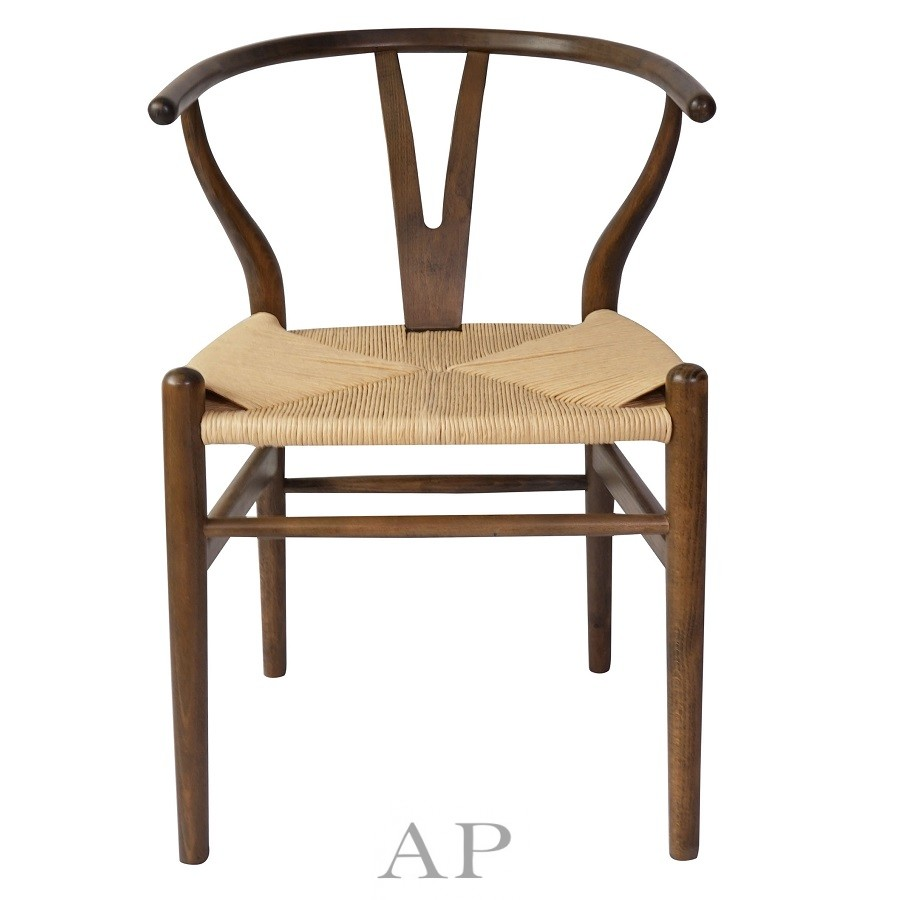 wegner-wishbone-dining-chair-replica-brown-natural-papercord-seat-front-1