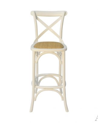 white-crossback-bar-chair