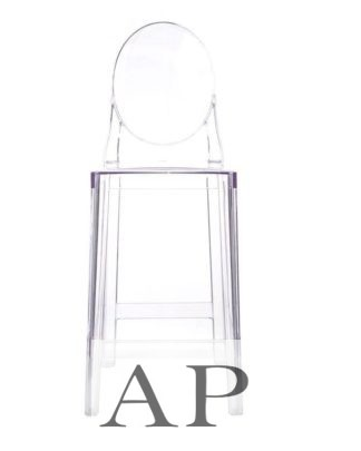 Replica-Philippe-Starck-Victoria-Louis-Ghost-Stool-Clear-Transparent