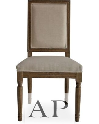 french-country-dining-side-bedroom-chair-wood-square-back-beige-front-12-ap-furniture
