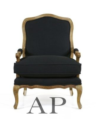 louis-xv-french-provincial-occasional-chair-sofa-armchair-apfurniture-black-oak-frame-front-view