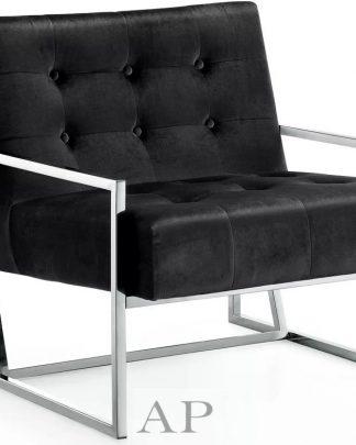 manhattan-arm-chair-black-chrome-side