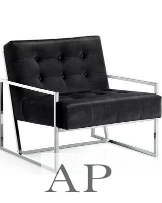 manhattan-arm-chair-black-siliver-side-ap-furniture