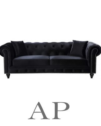 marco-velvet-sofa-3-seater-charcoal-black-front-11-ap-furniture