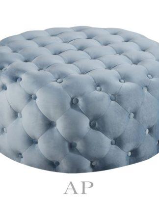 milano-round-ottoman-bench-tufted-velvet-blue
