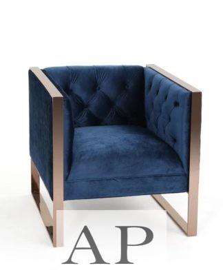 guilia-velvet-arm-chair-navy-blue-front