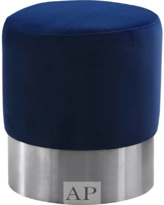 serena-round-ottoman-brushed-stainless-navy-blue