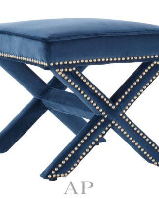 zullo-ottoman-bronze-nailhead-velvet-navy-blue-front-side