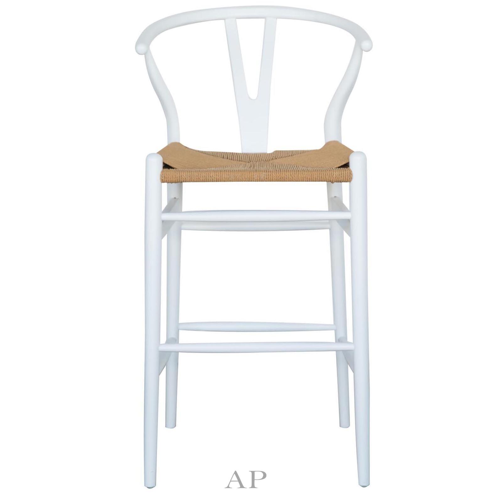Hans-Wegner-Wishbone-replica-barstool-white-natural-front-view-apfurniture