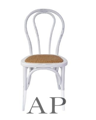 Thonet-bentwood-rattan-Dining-Chair-white-front-1-ap-furniture