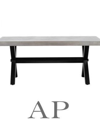 camille-concrete-black-steel-legs-rectangle-dining-table-side-2-ap-furniture