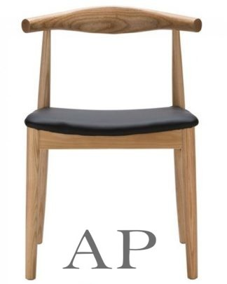 elbow-dining-chair-wenger-replica-natural-front-view