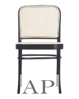 hoffman-bentwood-dining-chair-811-replica-black-natural-rattan-seat-front