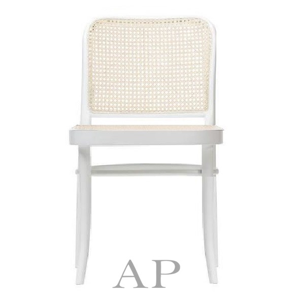 hoffman-bentwood-dining-chair-811-replica-white-natural-rattan-seat-front-ap-furniture