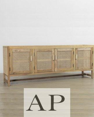 willow-rattan-woven-4-door-entertainment-cabinet-side-1-ap-furniture